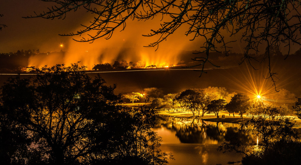 Heritage, Veld fire, night, Eksteen Jacobsz, Primkop Dam
